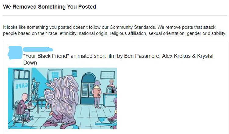 "Updated) Facebook Censors Critically Acclaimed ""Your Black"