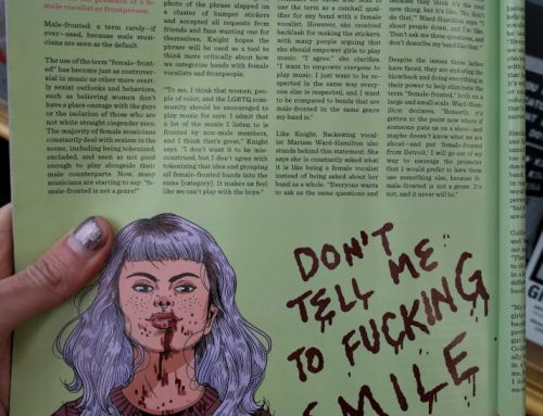 Jenn Woodall illustrations in New Noise Magazine #38