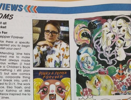 Interview with Ivy Atoms about DIY and Pinky and Pepper Forever in the new Previews Catalog